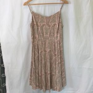 Old Navy Spaghetti Strap Dress Peach with Paisley